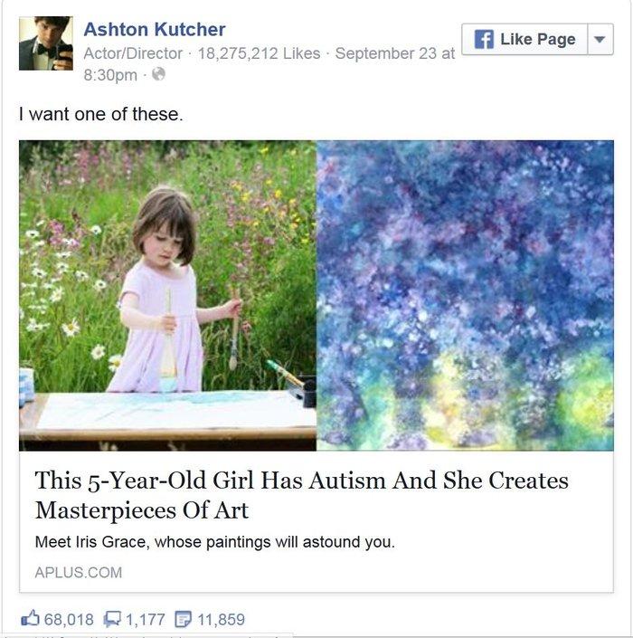 autism ashton kutcher
